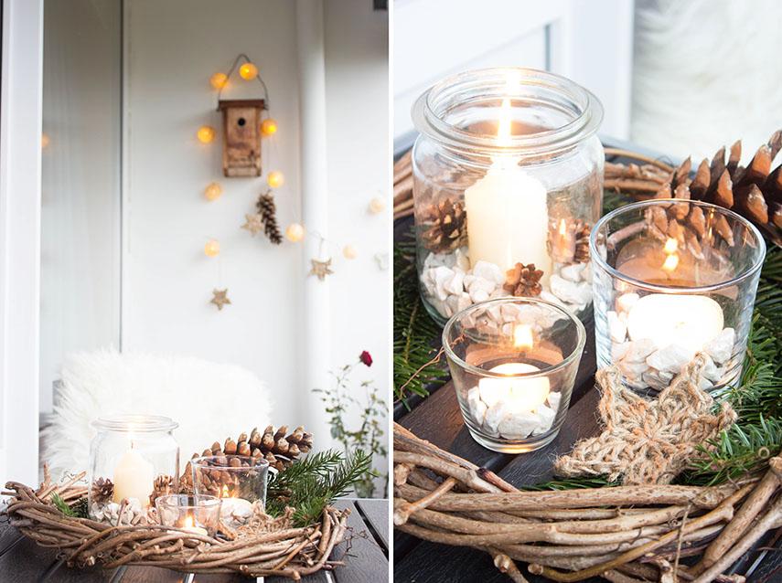 4 rustikale weihnachtsdeko f r den balkon ars. Black Bedroom Furniture Sets. Home Design Ideas