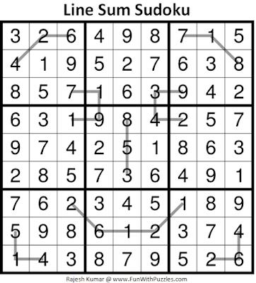 Answer of Line Sum Sudoku (Daily Sudoku League #225)