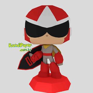 Megaman Protoman Funko Papercraft | RondiPaper PaperToy