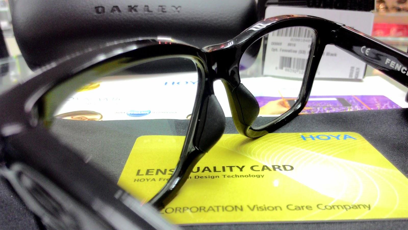 精明眼鏡公司: HOYA Dynamic 漸進鏡片 + Oakley Fenceline 膠框