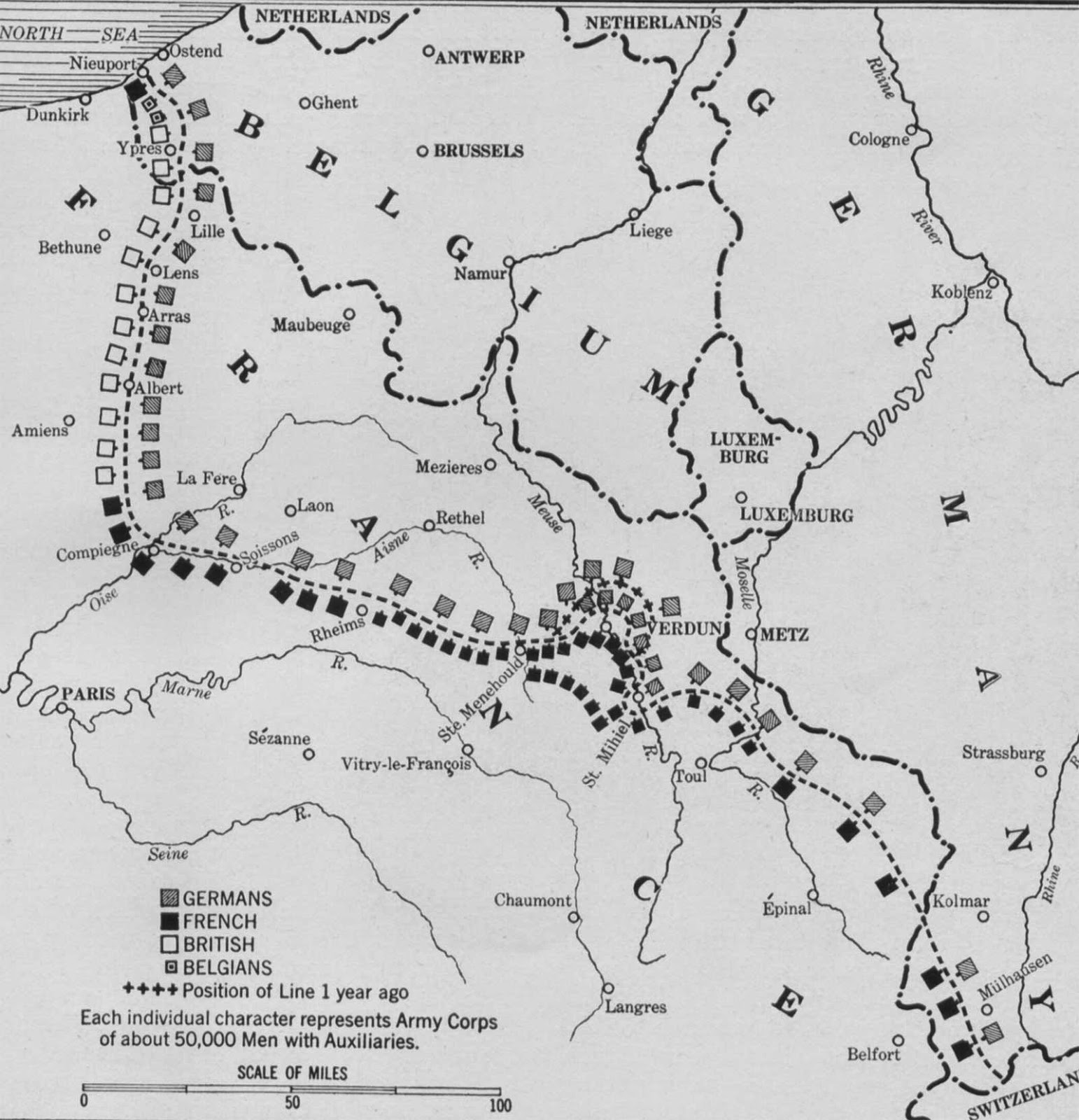 Map Of The Week The Christmas Truce