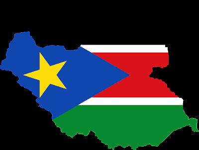南スーダン 国旗 地図