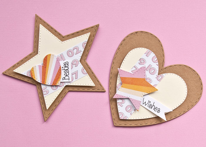 star and heart shaped card by Kim Dellow