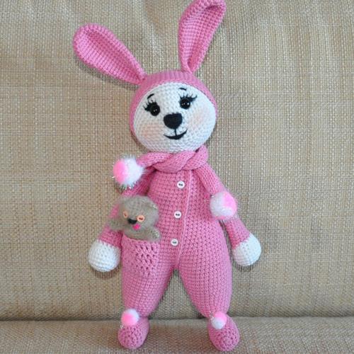 Amigurumi Bunny in Pajamas - Free Pattern