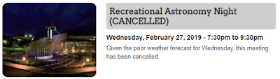 cancelled meeting note from RASC Toronto web site