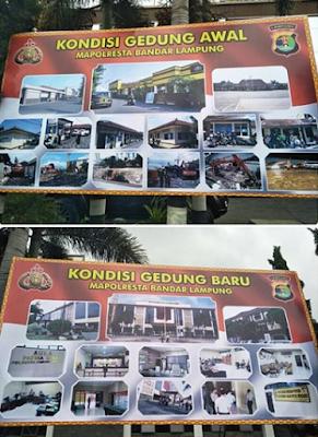 Gedung Baru Mapolresta Bandar Lampung Diresmikan
