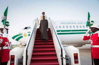 President Buhari Arrives London For 10-Day Vacation