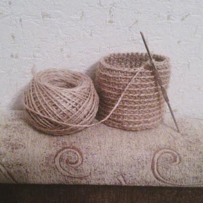 вязание из бечёвки