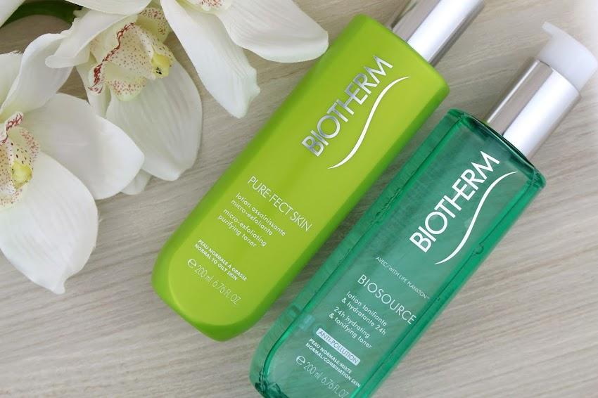 Biotherm | Mes nouveaux alliés pour ma peau mixte à grasse lotion assainissante micro exfoliante Purefect Skin lotion tonifiante et hydratante 24h