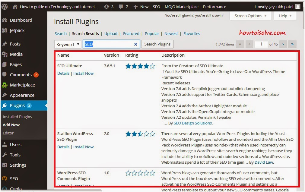 3 Search result of wordpress plugin