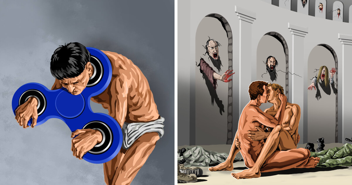 13 Powerful Illustrations Reveal Everything That Is Wrong With The World Today