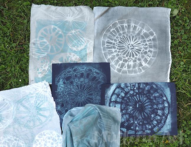 Mandala-Heißkleber-Schablonen Gelliprint Sonnendrucke nach ©muellerinart