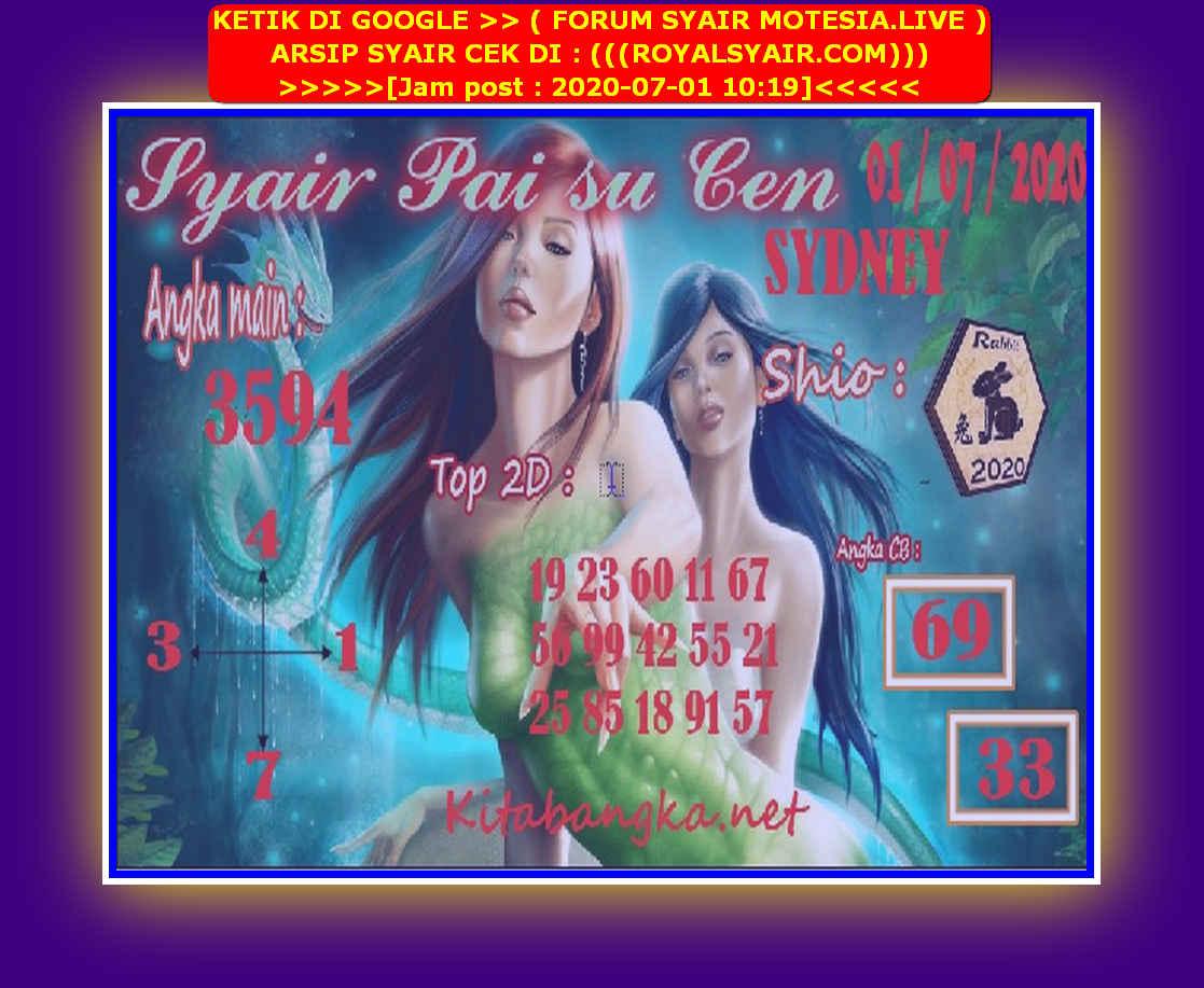 Kode syair Sydney Rabu 1 Juli 2020 161