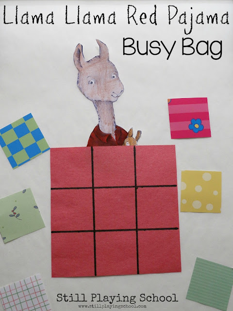 Games and activities to go with the book Llama Llama Red Pajama!