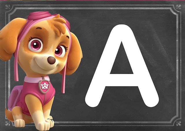 Check Out Our Collection Of Paw Patrol Alphabets!