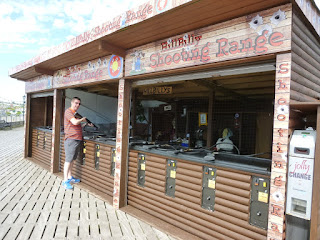 It's not minigolf, but it's a seaside classic - a Hillbilly Shooting Shack on Paignton Pier