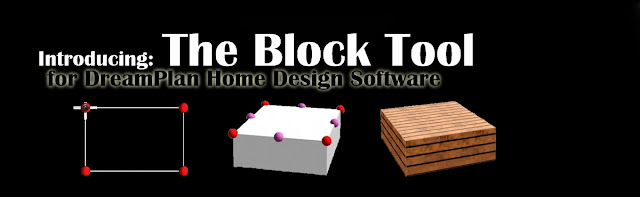 Header image with examples of the DreamPlan Block tool