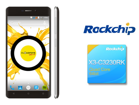 Cloudfone announced that smart phone based on Rockchip SoFIA