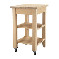 Kitchen cart and butcher block transform into bench - IKEA Hackers - IKEA Hackers