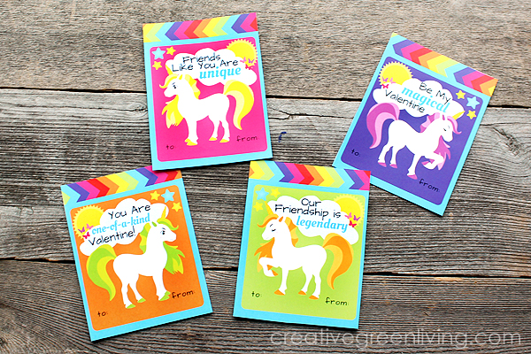 graphic regarding Free Printable Unicorn Valentines known as Totally free Printable Rainbow Unicorn Valentines! - Innovative Eco-friendly