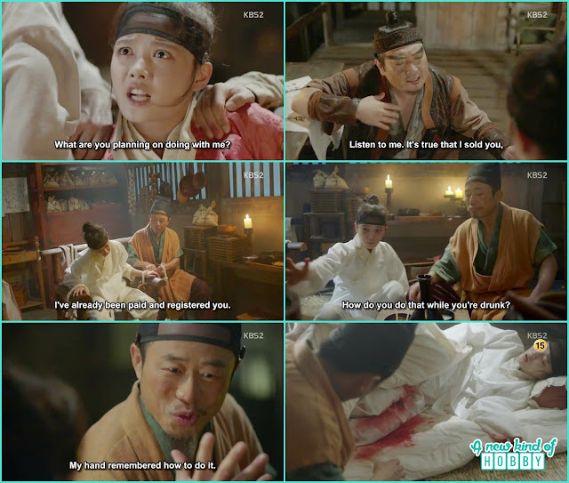 ra on sold by the loan sharks and end up in the hand of a person who make eunch for palace - Love in the Moonlight - Episode 1 Review