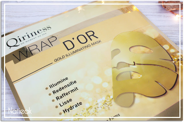 Masque microfibre premium Wrap d'or  Qiriness