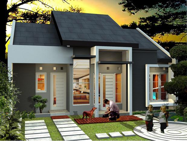 model rumah sekarang terbaru 1 2 lantai
