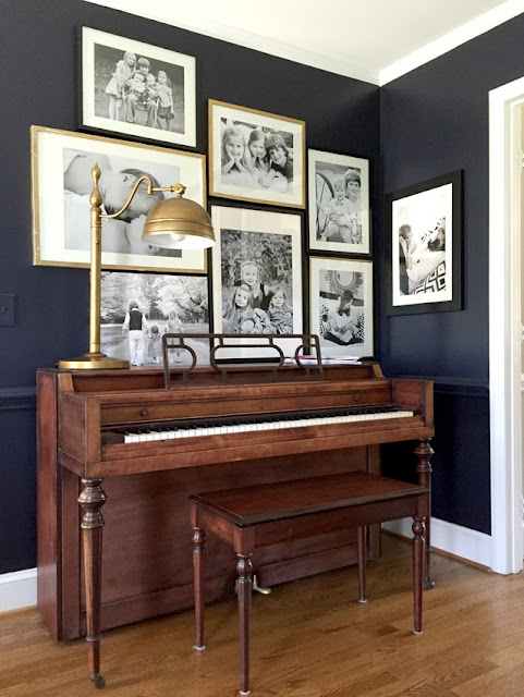 green street decorating around a piano With best brand of paint for kitchen cabinets with piano framed wall art