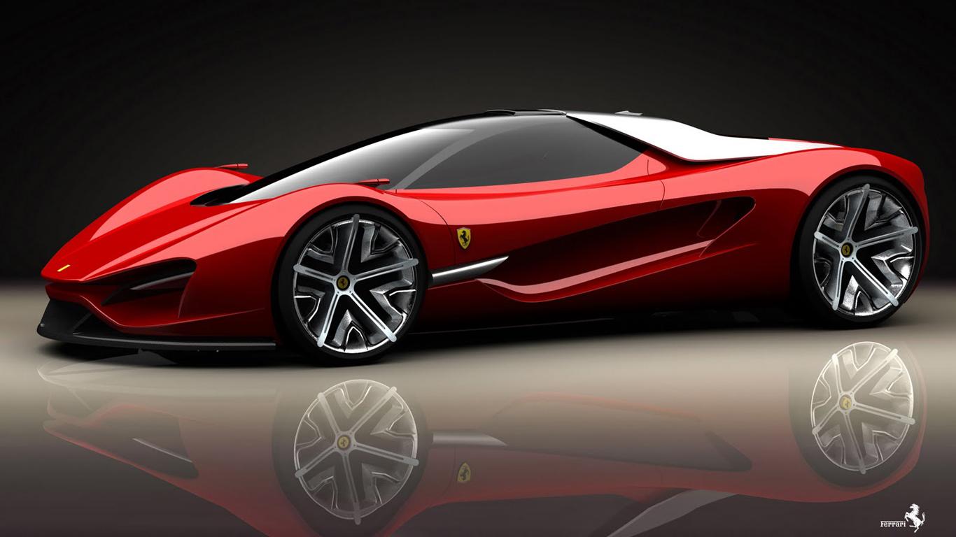 Ferrari Red Concept Sport Car Hd Wallpaper Free Download Hd