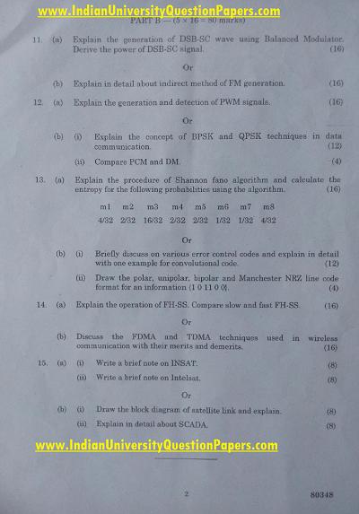 EC6651 Communication Engineering Nov Dec 2016 Question Paper