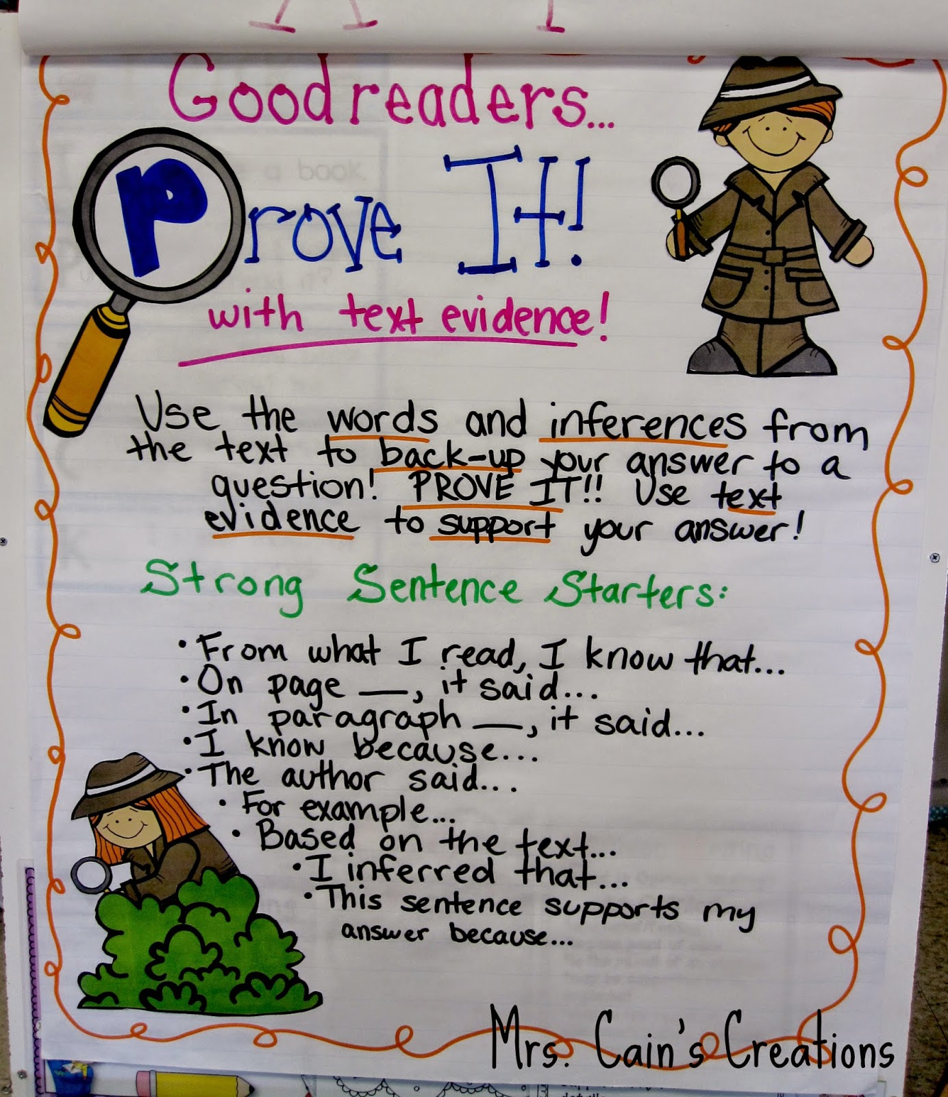 Mrs Cain S Creations Citing Text Evidence Like A Text