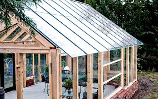 стеклянная крыша на беседке