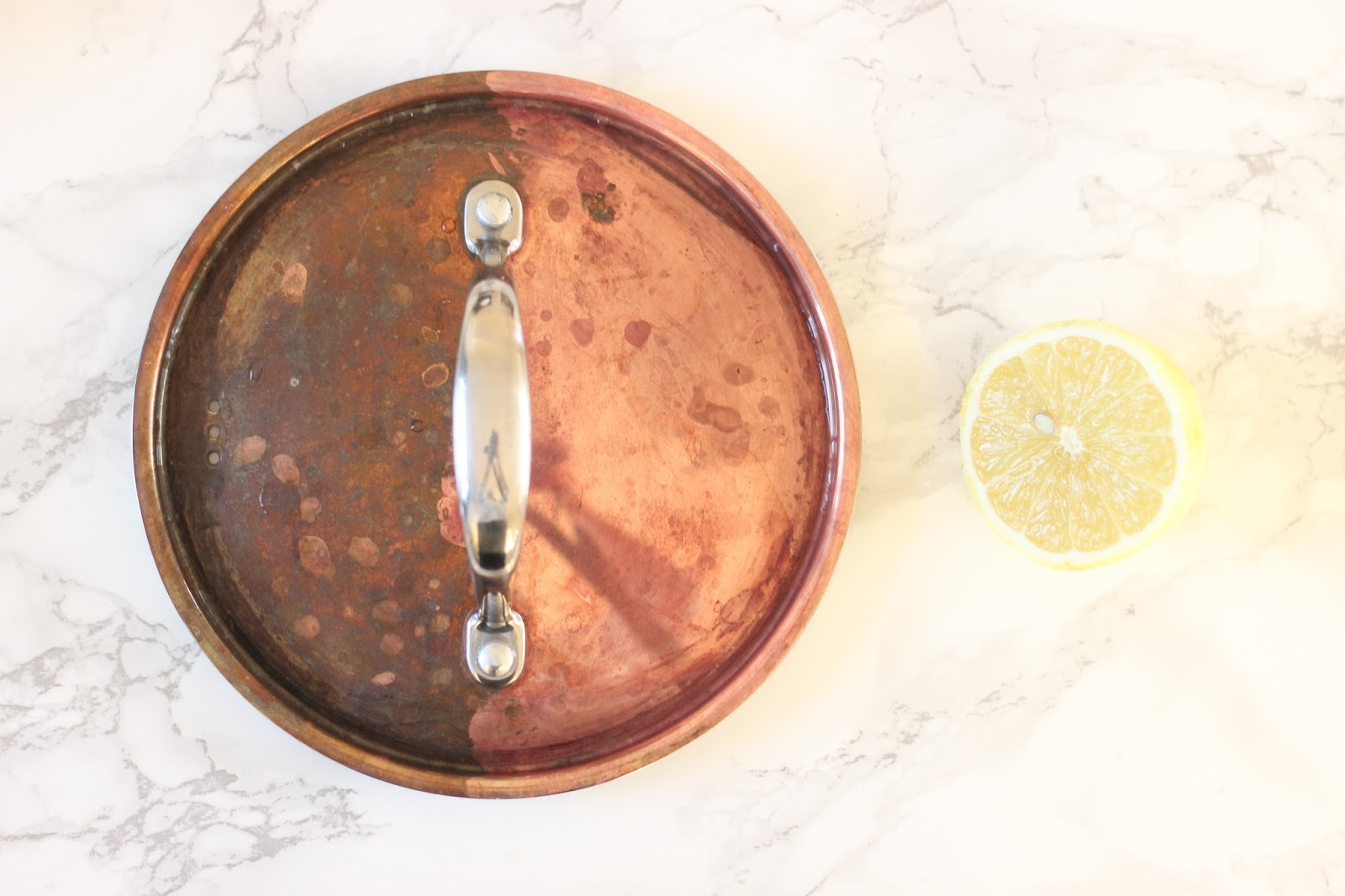 How to clean copper pans by Jen Lou Meredith