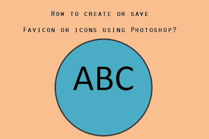 How to create or save favicon or icons using Photoshop?