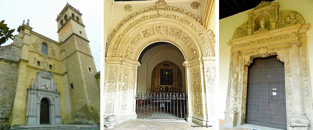 Campanário de detalhes da decoração do Mosteiro de San Jerónimo, em Granada