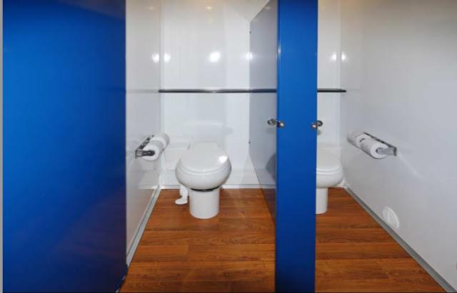 Inside the Women's Toilet Trailer