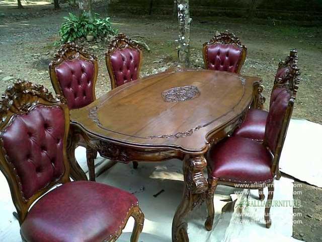kursi meja makan set ukiran ganesha kirana
