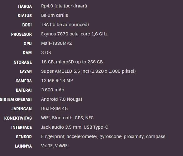Spesifkasi Samsung Galaxy J7
