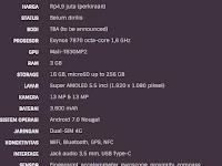 Harga Samsung Galaxy J7 & Spesifikasi dengan Kamera Depan 13 MP &  Belakang 13 MP