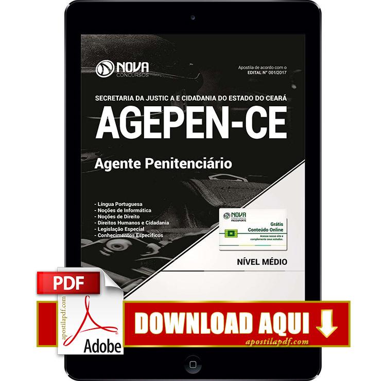 Apostila AGEPEN CE 2017 PDF Download Agente Penitenciário