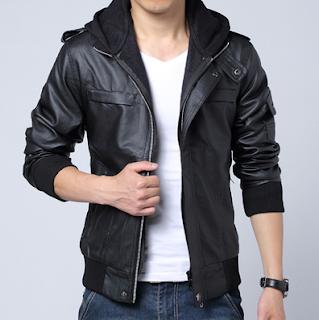 jaket kulit hoodie murah