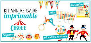 kit anniversaire cirque gratuit