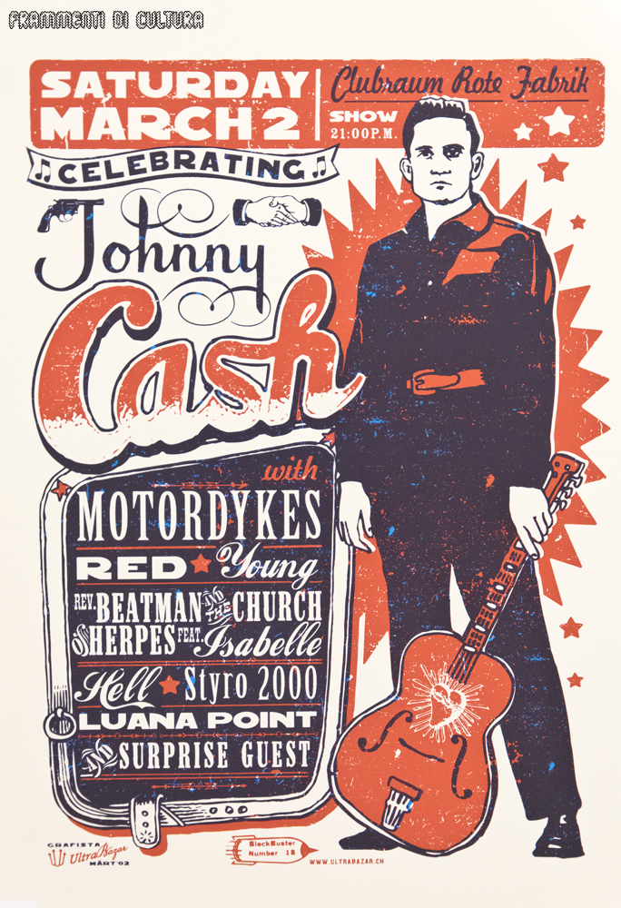 Celebrating Johnny Cash, un poster di Martin Infanger