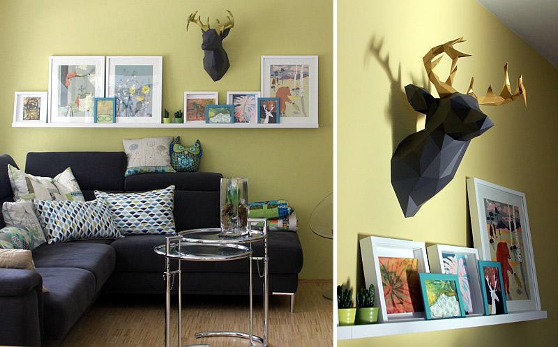 machwerk einen verdeckten rei verschluss in ein kissen n hen ein hirsch und eine greten. Black Bedroom Furniture Sets. Home Design Ideas