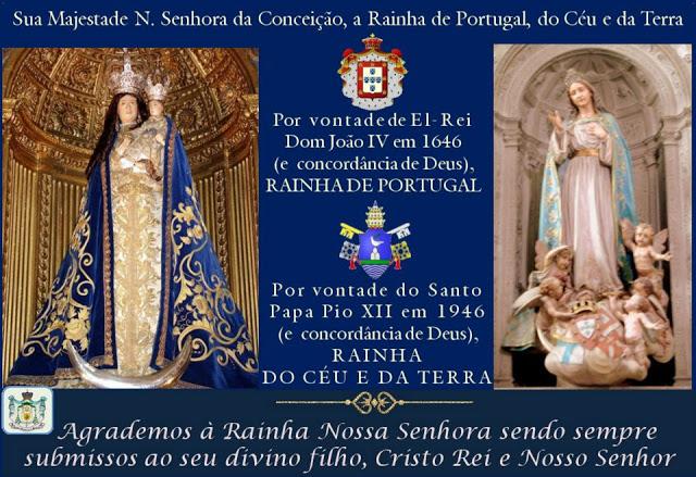 Imaculada Conceição da Virgem Santa Maria, Rainha de Portugal - Dia da Mãe
