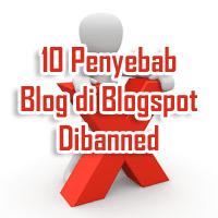 Penyebab Blog Dibanned