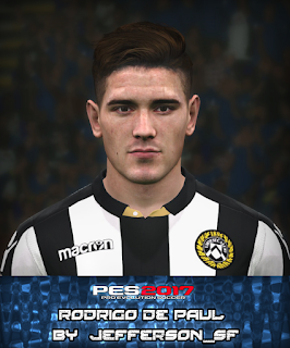 PES 2017 Faces Rodrigo De Paul by Jefferson_SF