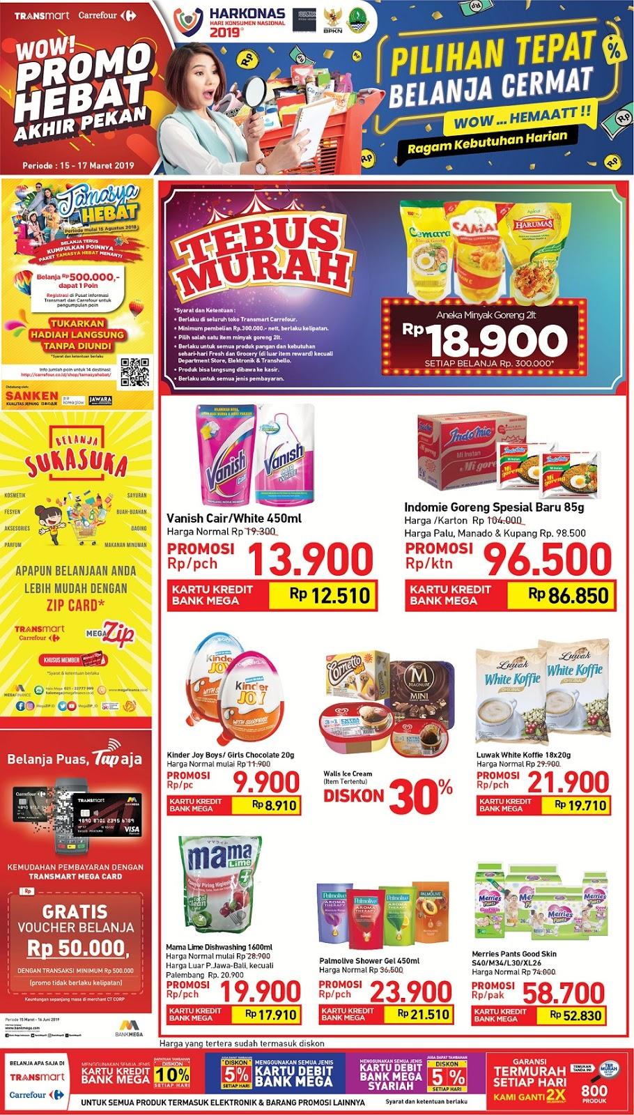#Transmart #Carrefour - #Promo #Katalog JSM Periode 15 - 17 Maret 2019