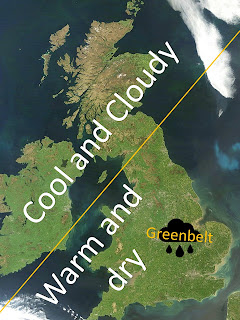 Cool and Cloudy for Scotland - Warm and Dry for England - Pouring rain for Greenbelt