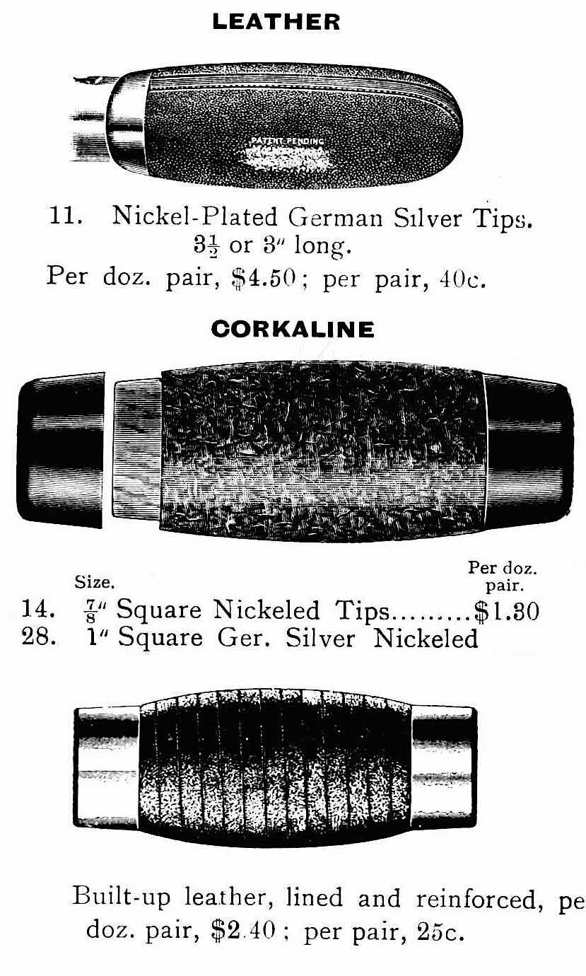 1900 leather and corkaline bicycle handles illustration